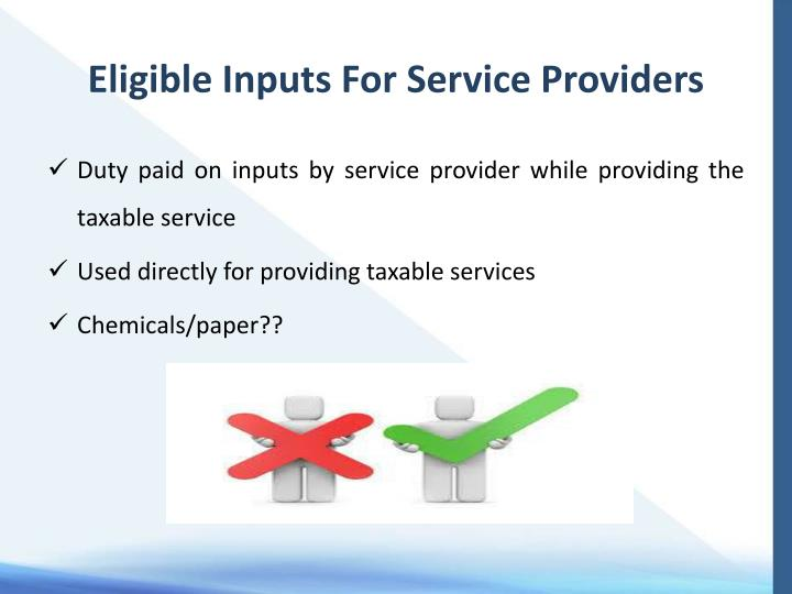 Eligible Inputs For Service Providers