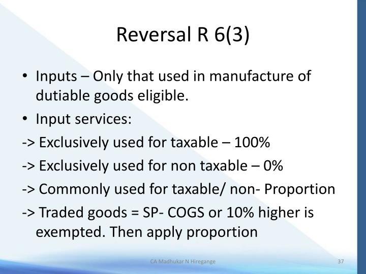 Reversal R 6(3)