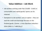 value addition job work