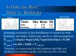 is duke the best duke vs kentucky