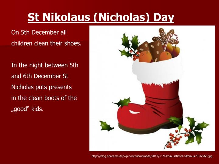 St Nikolaus (Nicholas) Day
