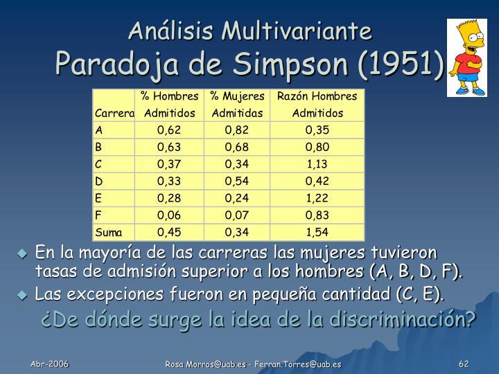 Análisis Multivariante