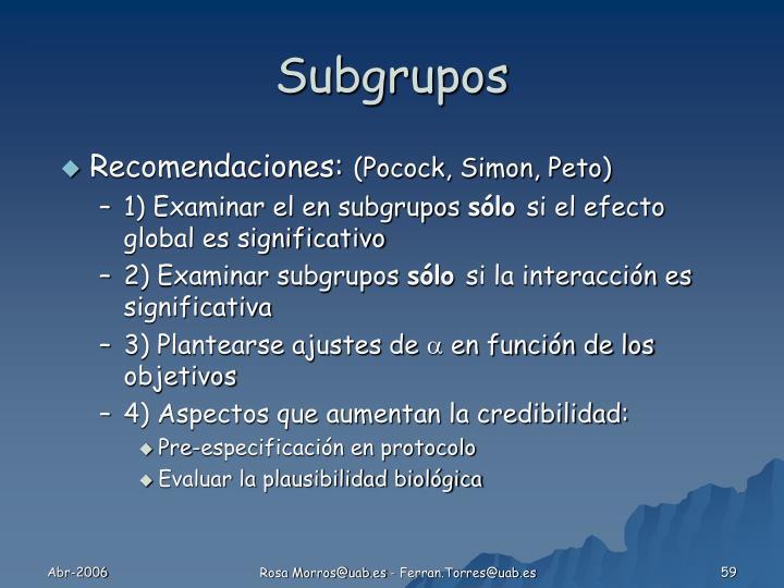 Subgrupos