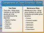 components of team dynamics roles 2 of 3