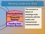 meeting leadership skills