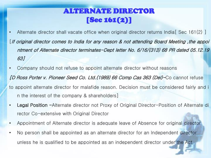 ALTERNATE DIRECTOR
