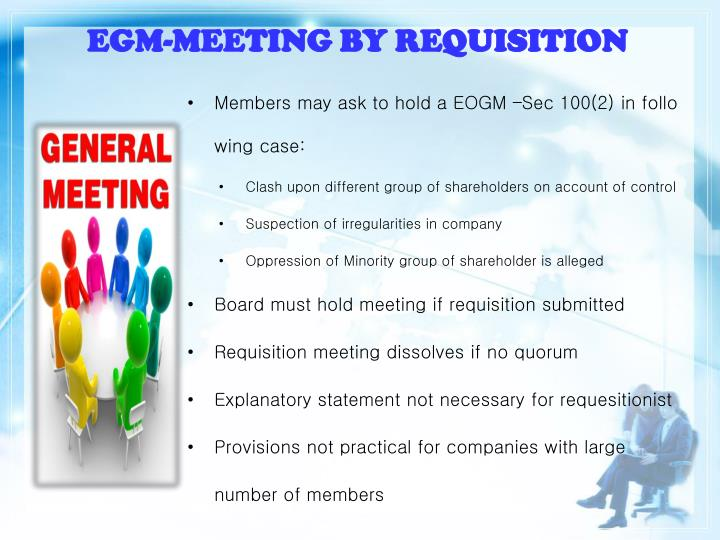 EGM-MEETING BY REQUISITION