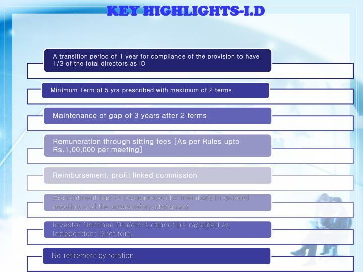 KEY HIGHLIGHTS-I.D