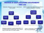 notice explanatory statement sec 102