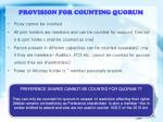 provision for counting quorum