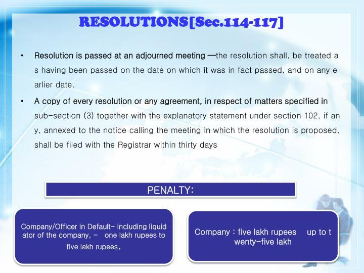 RESOLUTIONS[Sec.114-117]
