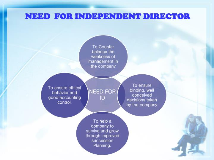 NEED  FOR INDEPENDENT DIRECTOR