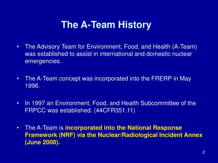 The A-Team History