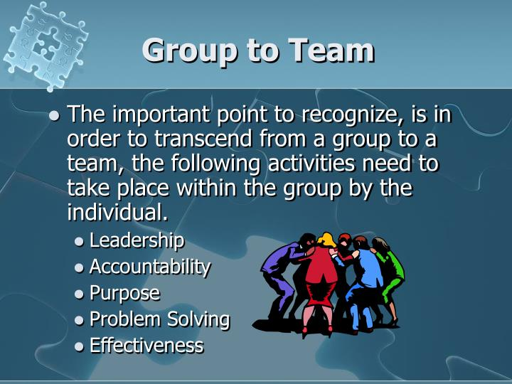 Group to Team