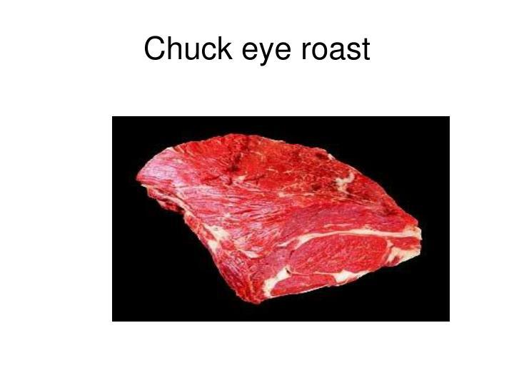 Chuck eye roast