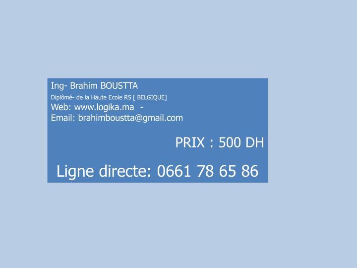 Ing- Brahim BOUSTTA