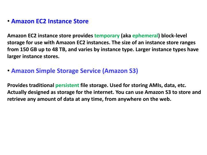 Amazon EC2 Instance Store
