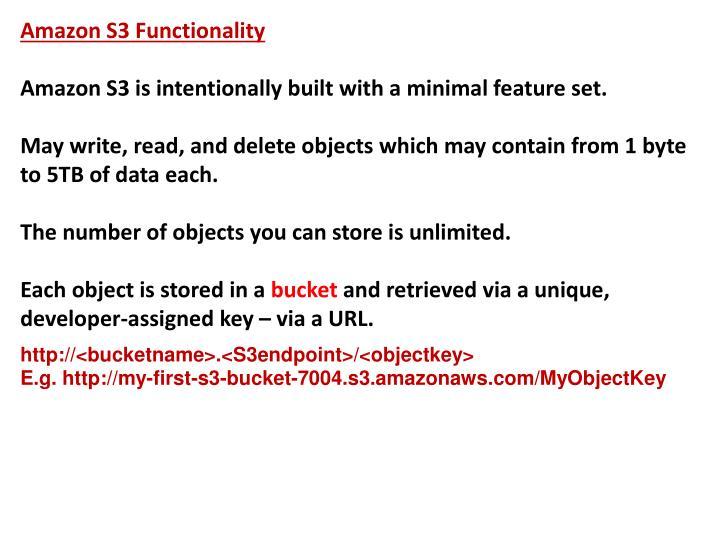 Amazon S3 Functionality