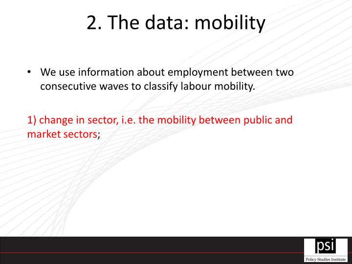 2. The data: mobility
