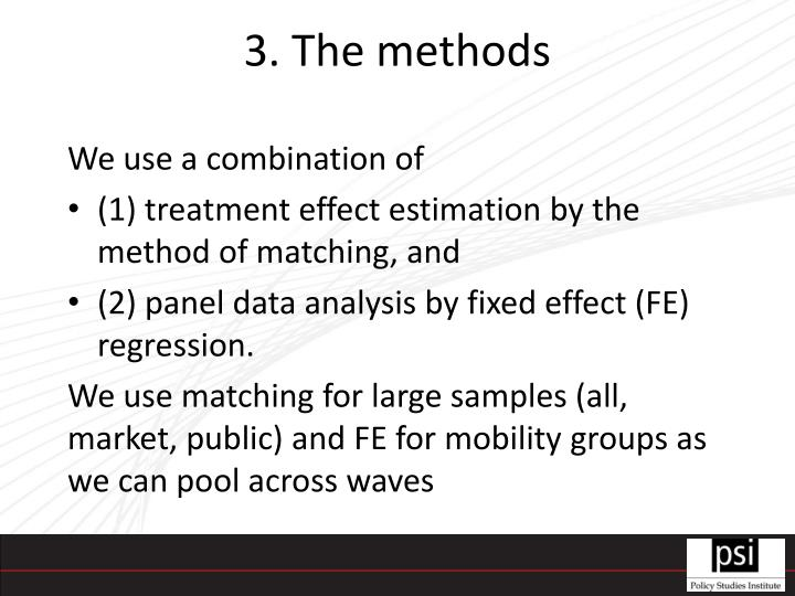3. The methods