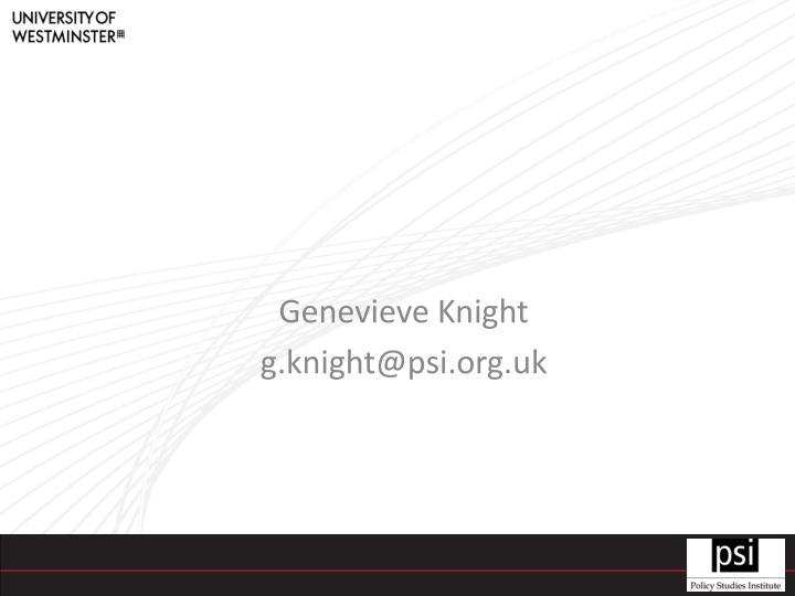 Genevieve Knight
