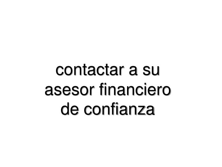 contactar a su