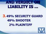 and verdict on liability is