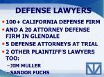 defense lawyers