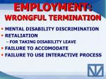employment wrongful termination