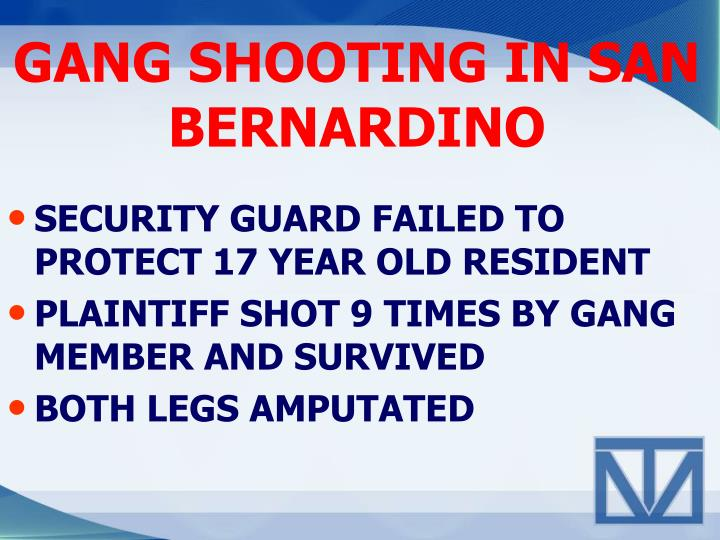 Gang shooting in san bernardino