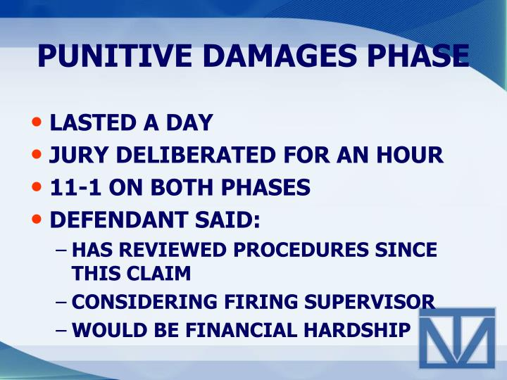 PUNITIVE DAMAGES PHASE