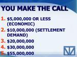 you make the call1