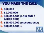 you make the call3