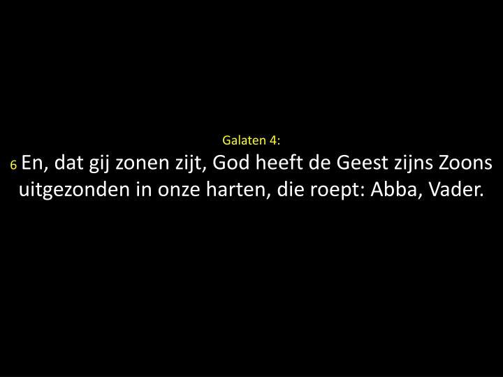 Galaten 4:
