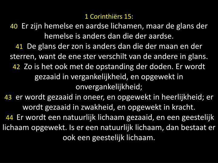 1 Corinthiërs 15: