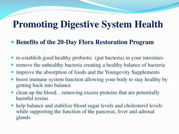 Promoting Digestive System Health