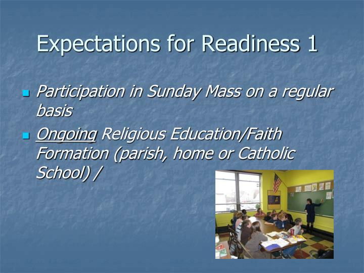 Expectations for Readiness 1