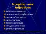 irregular eux adjectives1