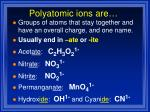 polyatomic ions are