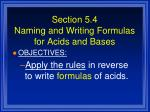 section 5 4 naming and writing formulas for acids and bases1