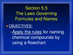 section 5 5 the laws governing formulas and names1