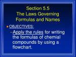 section 5 5 the laws governing formulas and names2