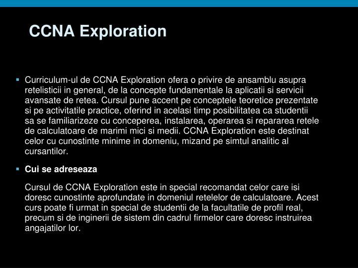 CCNA Exploration