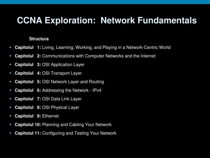 CCNA Exploration:  Network Fundamentals