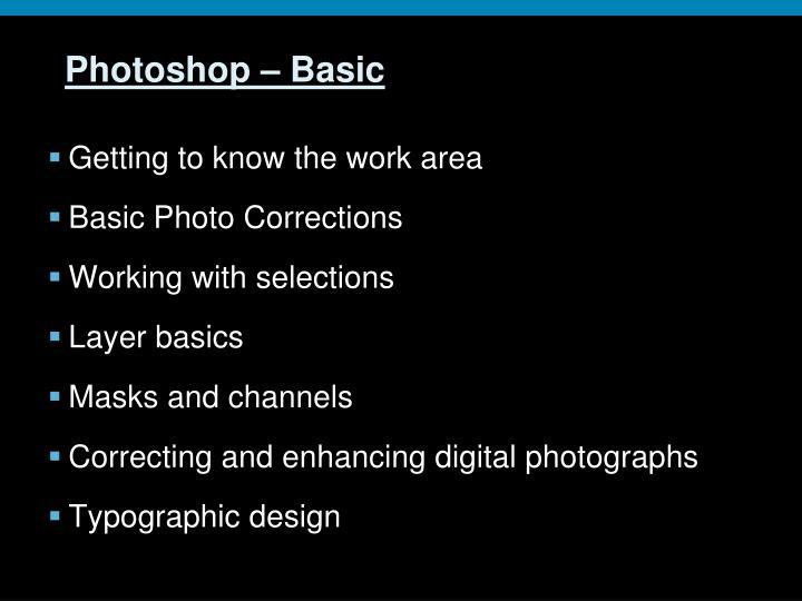 Photoshop – Basic