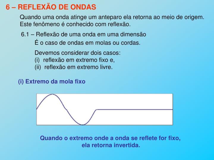 6 – REFLEXÃO DE ONDAS