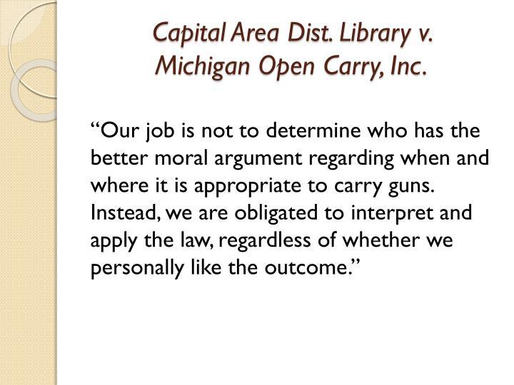Capital Area Dist. Library v.