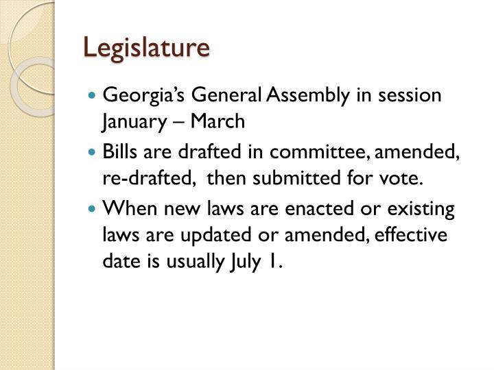 Legislature