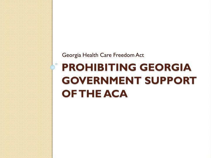 Georgia Health Care Freedom Act
