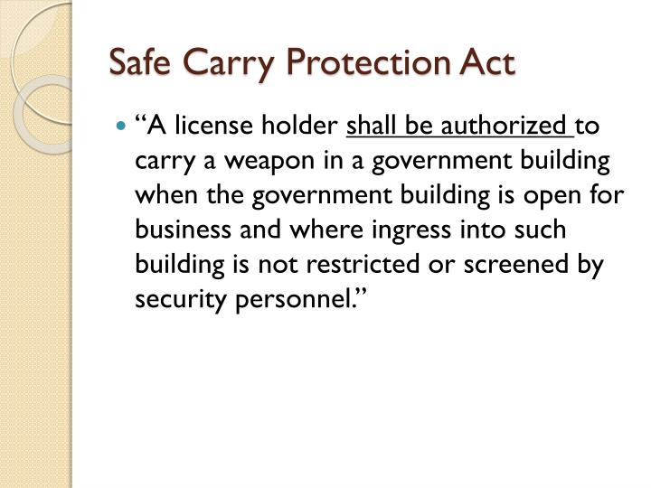 Safe Carry Protection Act